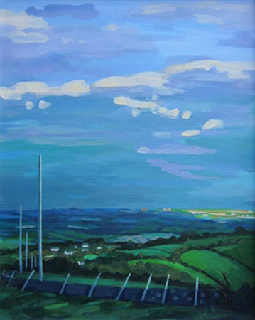 Clearing Skies over East Kilbride 16 ins x 19 ins