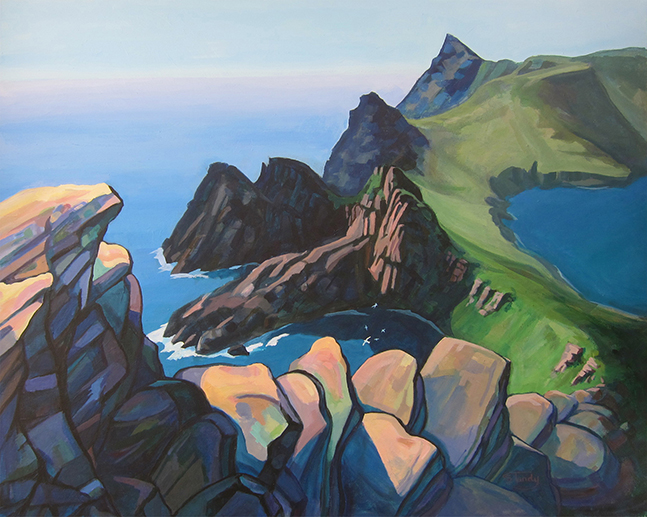 Summer Afternoon, St Kilda - acrylic on canvas - 31 ins x 39 ins