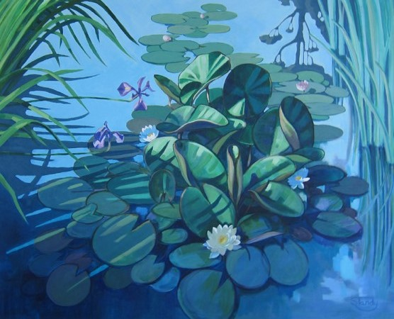 The Lily Pond – acrylic on canvas – 31 inches x 39 inches
