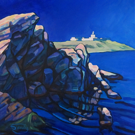 Strathy Point acrylic on canvas 12 ins x 12 inss